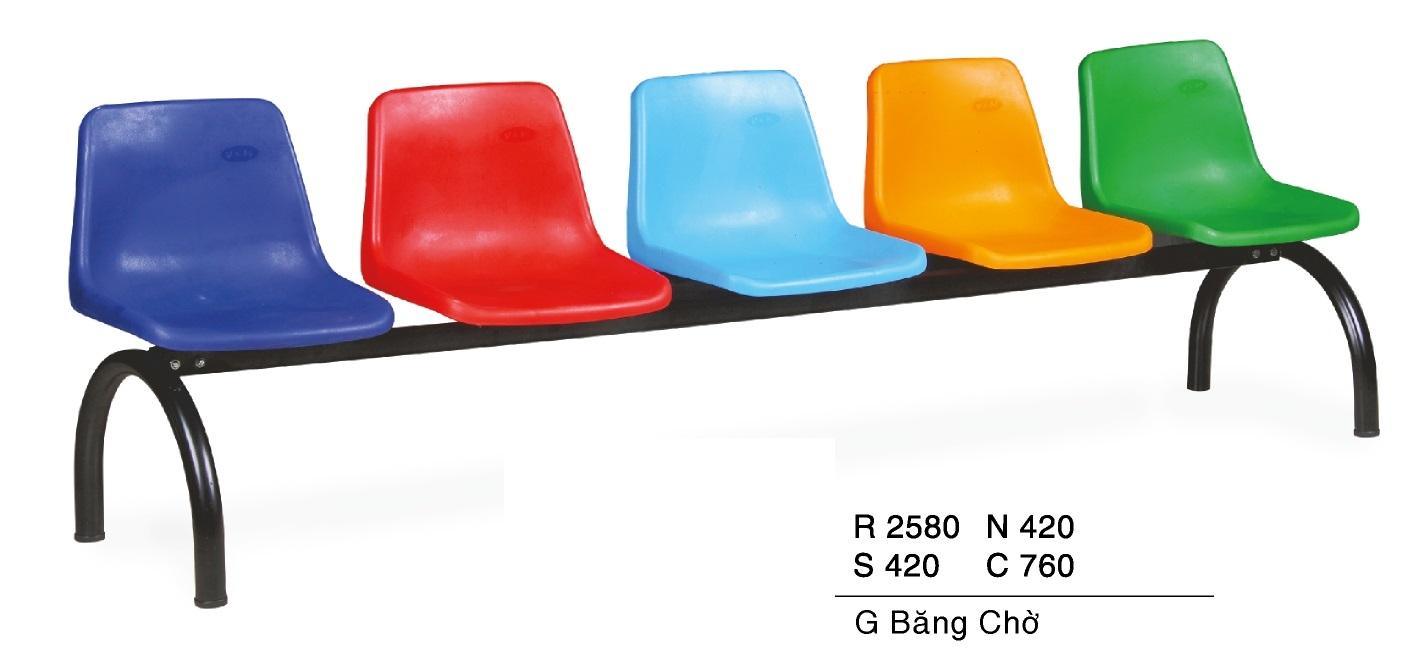 Ghế băng chờ nhựa TG 6105V