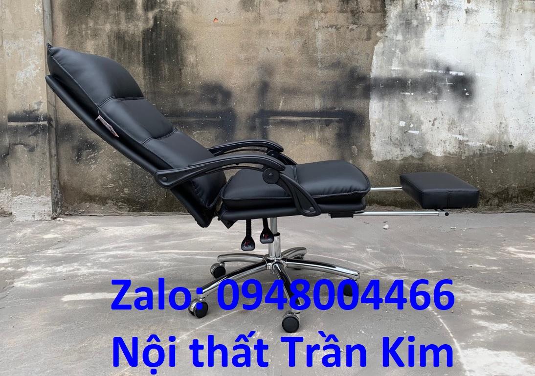 Ghế văn phòng bọc da có gác chân tg9856